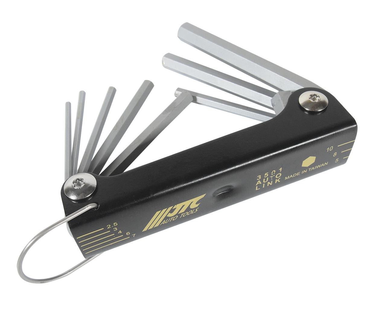 Набор ключей шестигранных 2-10мм раскладной 8 предметов JTC