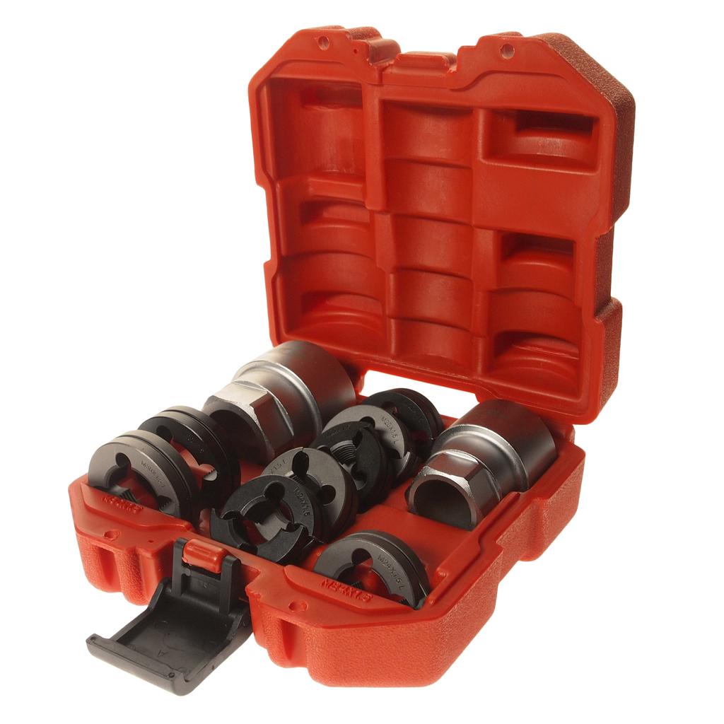 Набор инструментов для восстановления резьбы шпилек колес грузовых автомобилей 10 предметов JTC