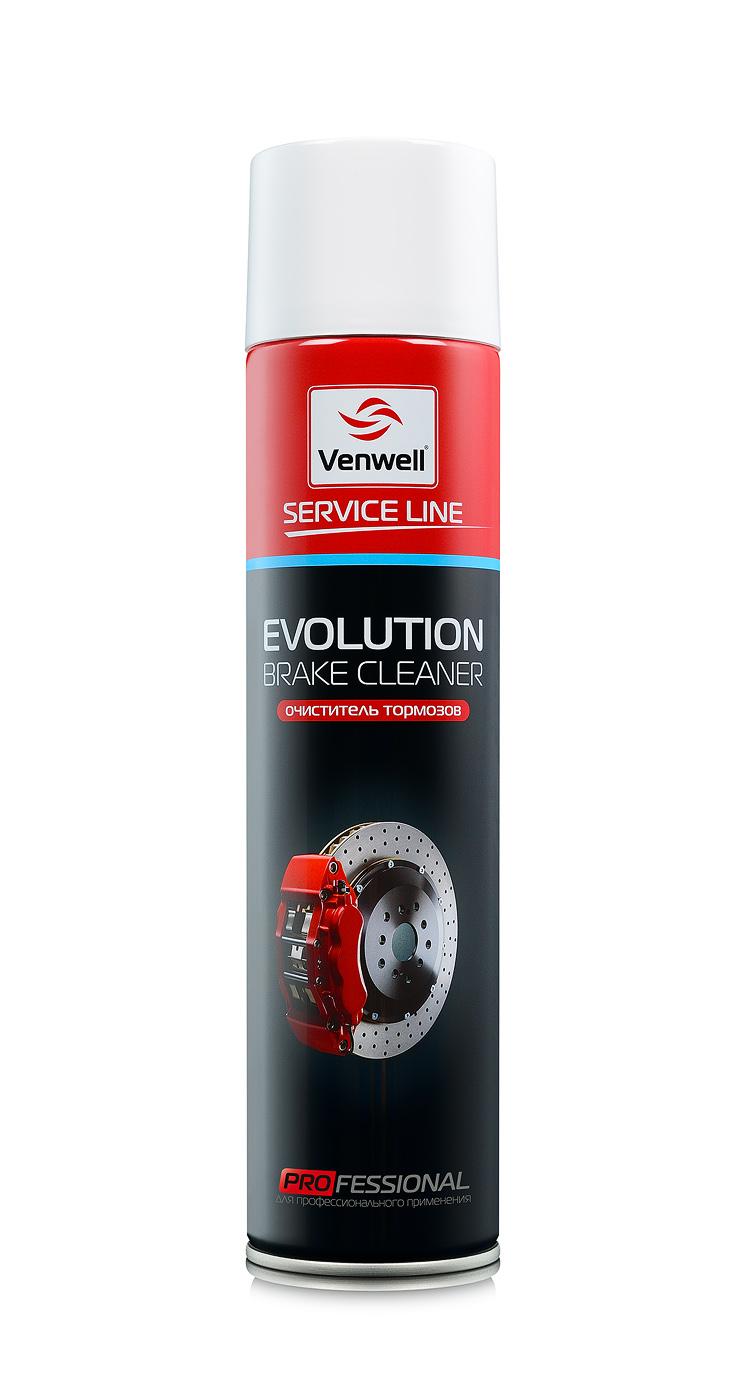Venwell Очиститель тормозов EVOLUTION Brake Cleaner 600 мл (аэрозоль)