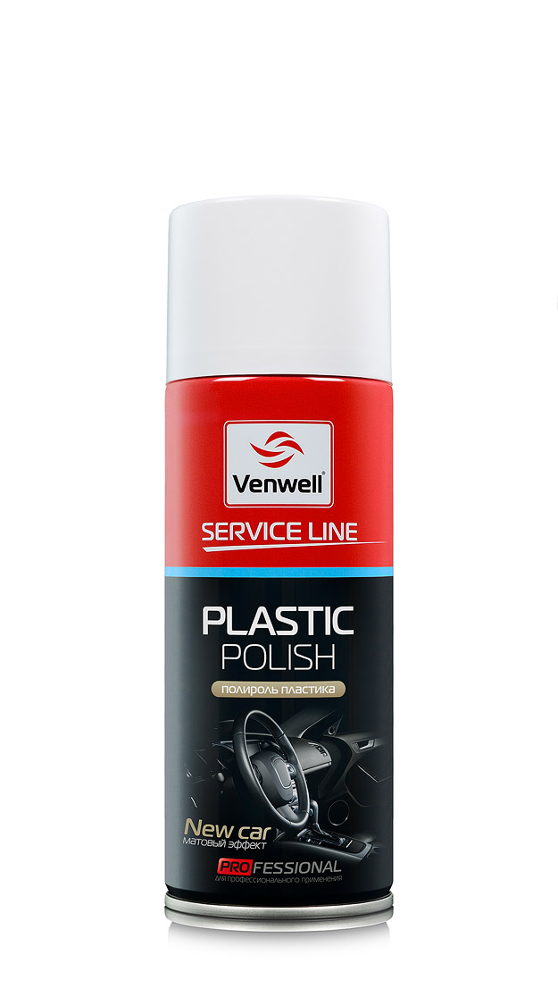Venwell Полироль пластика New Car / матовый эффект 400 мл (аэрозоль)